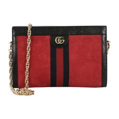 Gucci Ophidia Chain Shoulder Bag Suede Small