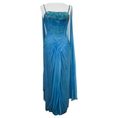 A French Couture Carven Evening Dress numbered 11150 Circa 1960/1970