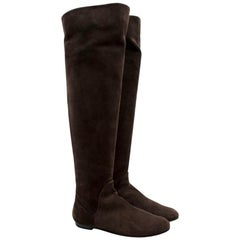 Giuseppe Zanotti Brown Suede Effect Boots US 6