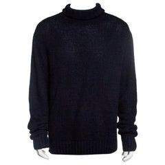 Ralph Lauren Black Cashmere Turtle Neck Long Sleeve Sweater XL