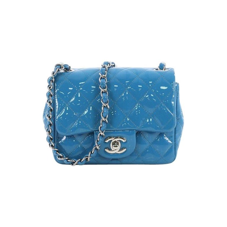 e13c08dcd4d6 Chanel Square Classic Single Flap Bag Quilted Patent Mini at 1stdibs