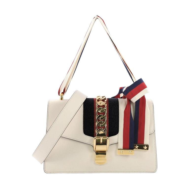 b3a209774790 Gucci Sylvie Shoulder Bag Leather Small For Sale at 1stdibs