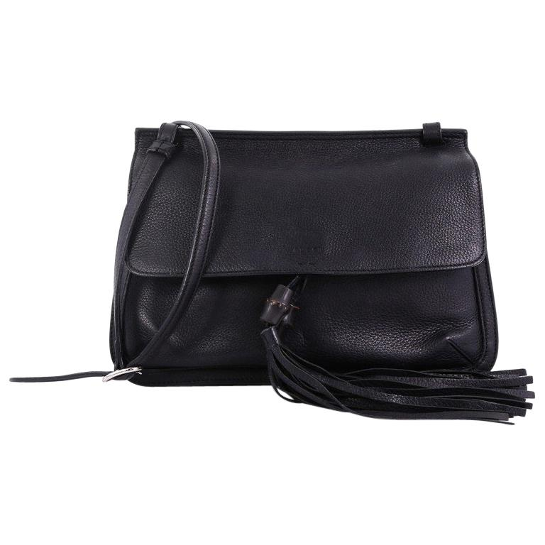 f97fc30c37fadc Gucci Bamboo Daily Flap Bag Leather For Sale at 1stdibs