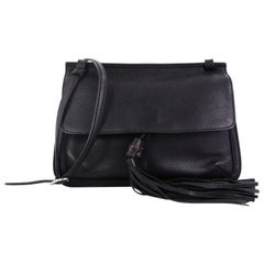 Gucci Bamboo Daily Flap Bag Leather