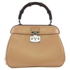 a6b62d46beb8d8 Gucci Lady Lock Bamboo Top Handle Bag Leather Medium