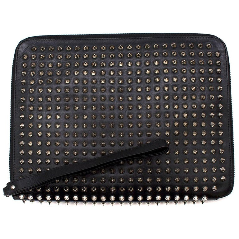 3dffce94b560 Christian Louboutin Black Cris Spiked Leather Ipad Case For Sale at ...