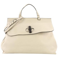 Gucci Bamboo Daily Top Handle Bag Leather Larg