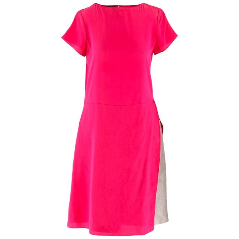 Emporio Armani Cerise Silk Dress US 0-2 For Sale