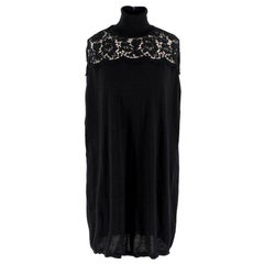 Valentino Black Wool Lace Jumper/Tunic US 4