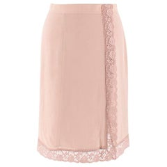 Burberry Silk & Lace Nude A-line Skirt US 0-2