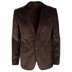 Gucci Brown Regular Fit Corduroy Blazer M