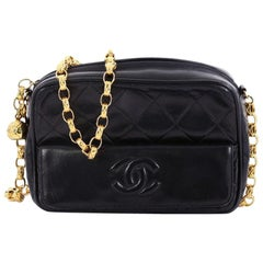 Chanel Vintage Camera Tassel Bag Quilted Leather Mini