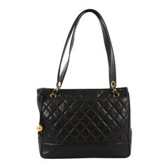 Chanel Vintage Shopping Tote Quilted Lambskin Medium