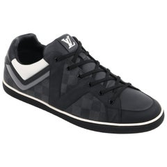"LOUIS VUITTON A/W 2012 ""Heroes"" Graphite Damier Canvas & Leather Low Top Sneaker"