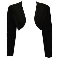 Oscar de la Renta Black Bolero Silk Jacket