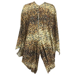 Norma Kamali OMO leopard print cocoon jacket 1980s