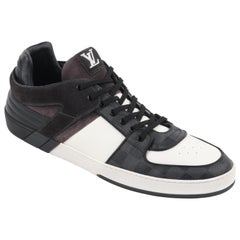 "LOUIS VUITTON S/S 2012 ""Ace"" Graphite Damier Canvas & Leather Low Top Sneaker"