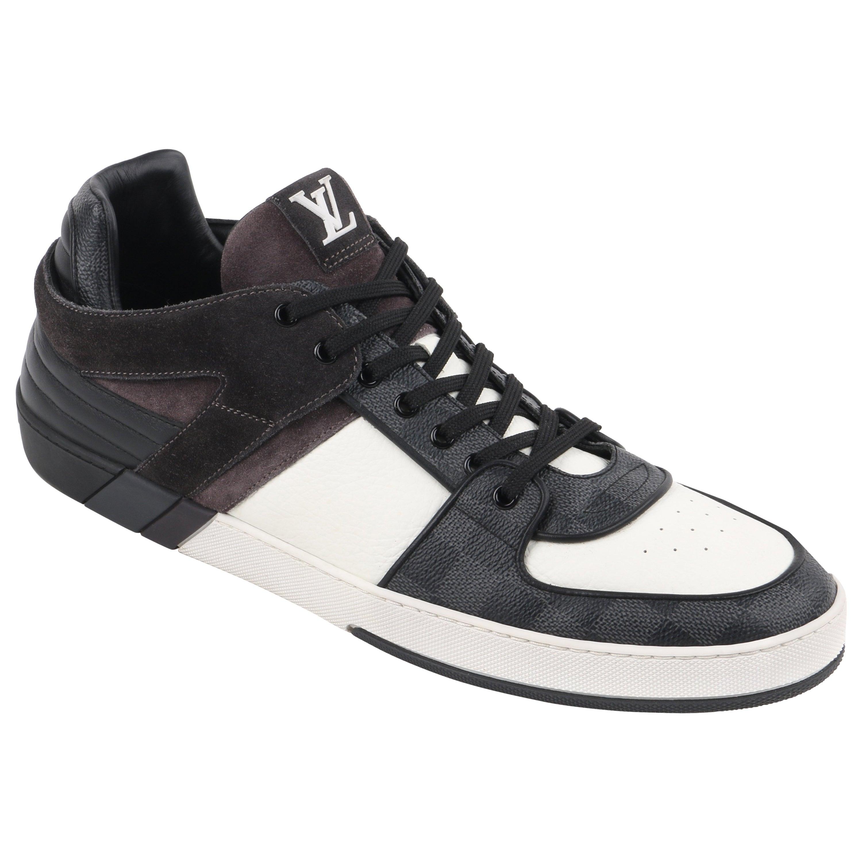 """LOUIS VUITTON S/S 2012 """"Ace"""" Graphite Damier Canvas & Leather Low Top Sneaker"""