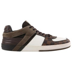 "LOUIS VUITTON S/S 2012 ""Ace"" Brown Damier Canvas & Leather Low Top Sneaker"