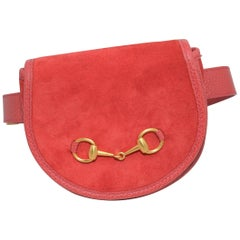 Gucci Vintage Suede Belt Bag with Horsebit