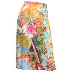 Dolce & Gabbana Florence Print Jersey Skirt