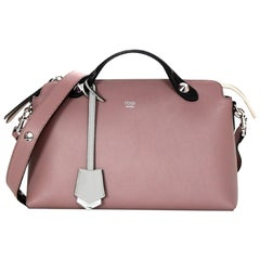 Fendi English Rose Pink Calfskin Leather Medium By The Way Boston Bag W/ Strap