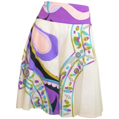 Emilio Pucci Embroidered Cotton-Blend Skirt