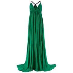 Amanda Wakeley embellished-strap draped gown US 12