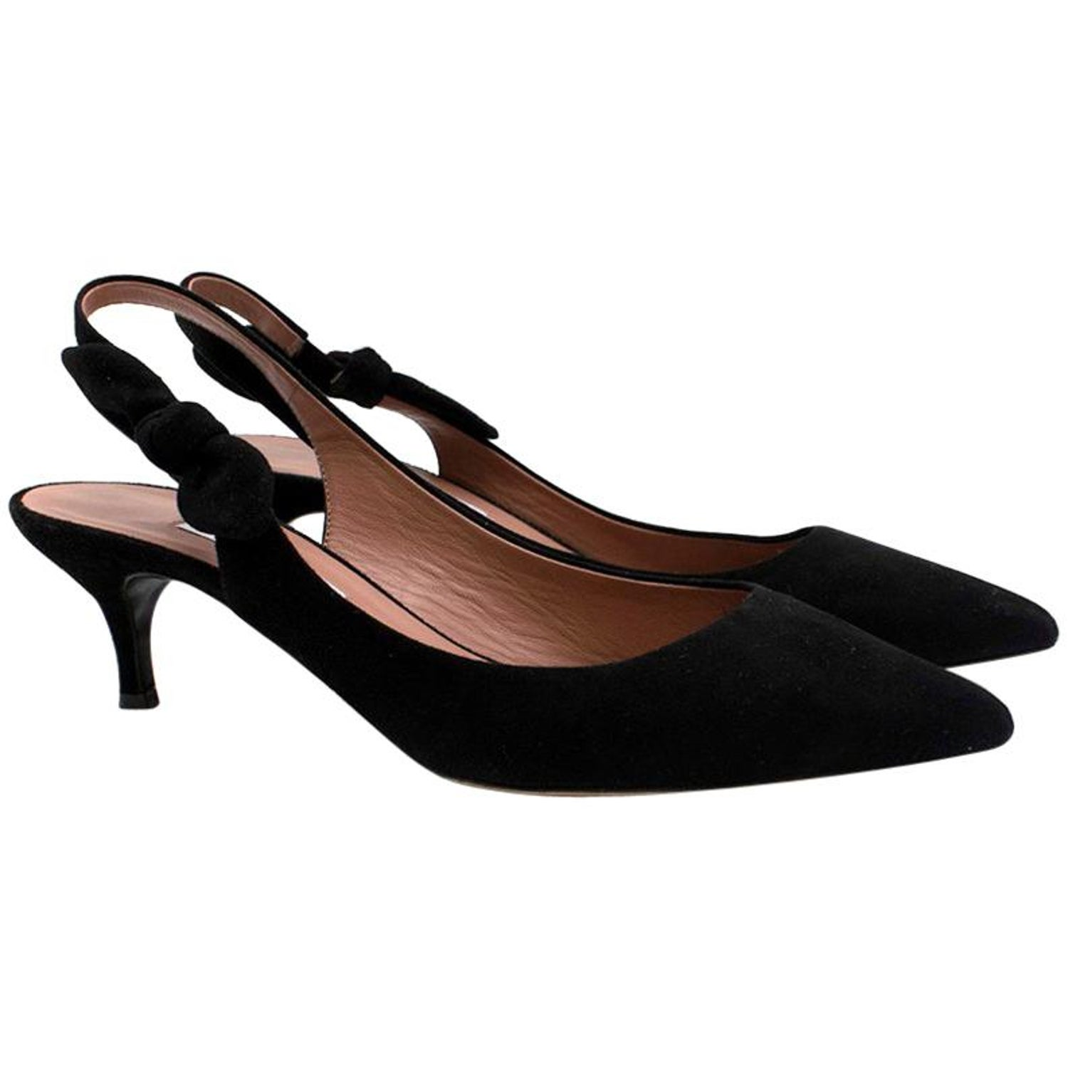 1a9f81b01 Tabitha Simmons Rise black suede point-toe pumps US 9 For Sale at 1stdibs