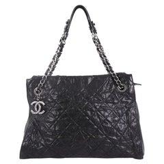 Chanel CC Crave Shoulder Bag Quilted Glazed Caviar Medium