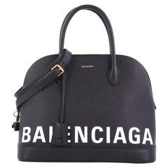 Balenciaga Ville Logo Bag Leather Medium