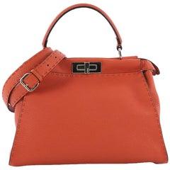 Fendi Selleria Peekaboo Handbag Leather Regular