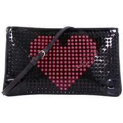 Christian Louboutin Loubiposh Clutch Spiked Patent