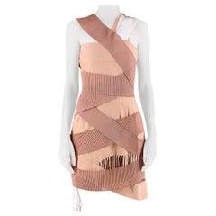 Emilio De La Morena Nude Frill Dress US 8