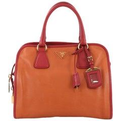 Prada Soft Triple Zip Satchel Saffiano Leather