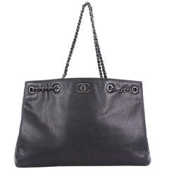 Chanel Woven Chain Shopping Tote Caviar Medium