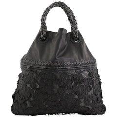 Bottega Veneta Julie Tote Leather with Applique Large