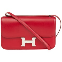 2010 Hermes Rubis Tadelakt Leather Constance Elan