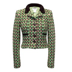 Chanel Boucle Green Jacket US 0-2