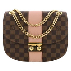 Louis Vuitton Wight Handbag Damier Canvas with Leather