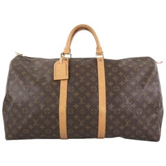 Louis Vuitton Keepall Bag Monogram Canvas 55