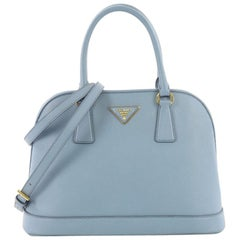 Prada Open Promenade Handbag Saffiano Leather Medium