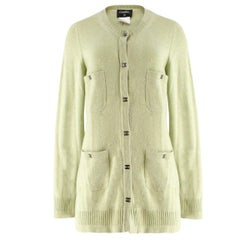 Chanel Green Cashmere Cardigan US 12