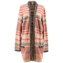 Chanel Multicolor Stripe Cardigan US 12