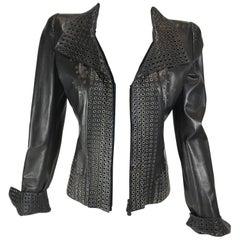 Alexander McQueen Grommets Leather Jacket