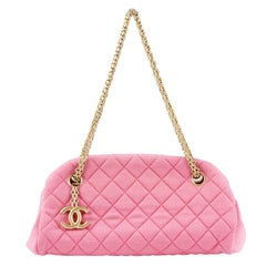 ae821ea3005a09 Chanel bubblegum pink quilted jersey MADEMOISELLE Shoulder Bag.  HomeFashionHandbags and PursesShoulder Bags. Chanel Flower Power Multicolor  Leather Boy ...