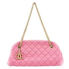 Chanel bubblegum pink quilted jersey MADEMOISELLE Shoulder Bag
