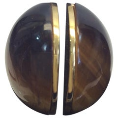 Chloe Tigers Eye and Gold Ring