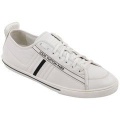"""LOUIS VUITTON S/S 2011 """"Cosmos"""" Off White Leather Signature Low Top Sneakers"""