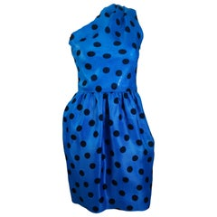 Givenchy Polka Dot One Shoulder Dress